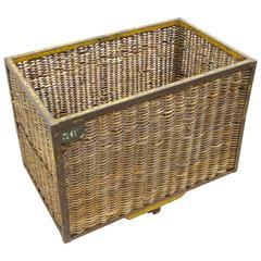Wicker and Iron Factory Cart