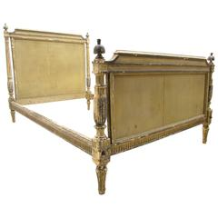 Antique French Painted Louis XVI Directorie Bed