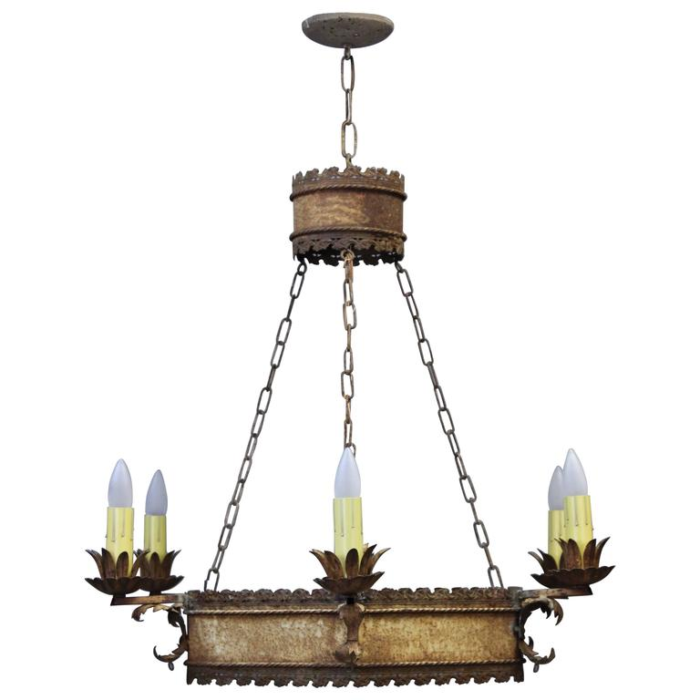 1920s Six Light Chandelier For Sale At 1stdibs