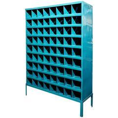 Industrial Storage Wine Rack, Refinished