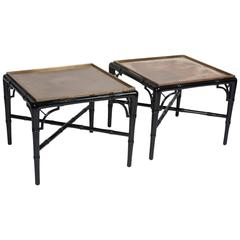 Pair of Black Lacquer End Tables by Billy Haines, American, circa 1940