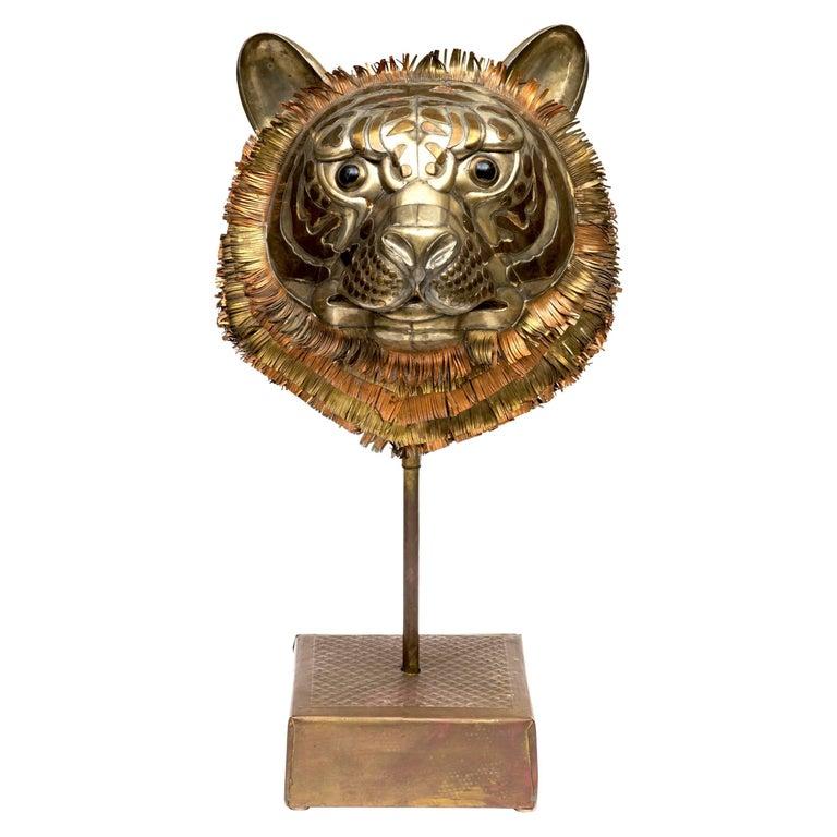 Bustamante Tiger Sculpture For Sale
