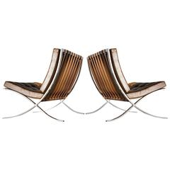 Barcelona Chairs by Mies Van Der Rohe for Knoll
