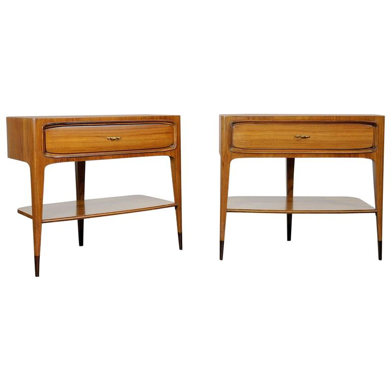 Pair of Night Stands Attributed to Paolo Buffa For Sale