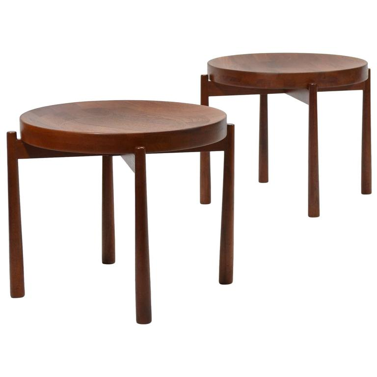 Swedish Solid Teak Flip-Top Tables in the Manner of Jens Quistgaard