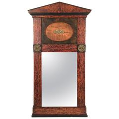19th Century French Empire Style Wall Mirror