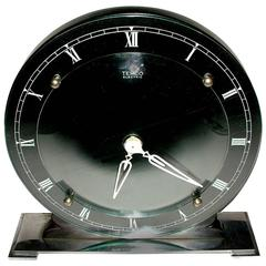English Art Deco Modernist Clock by Temco