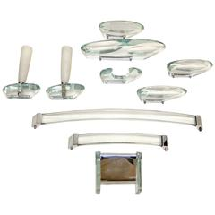 Max Ingrand for Fontana Arte Ten Piece Bath Accessories Set