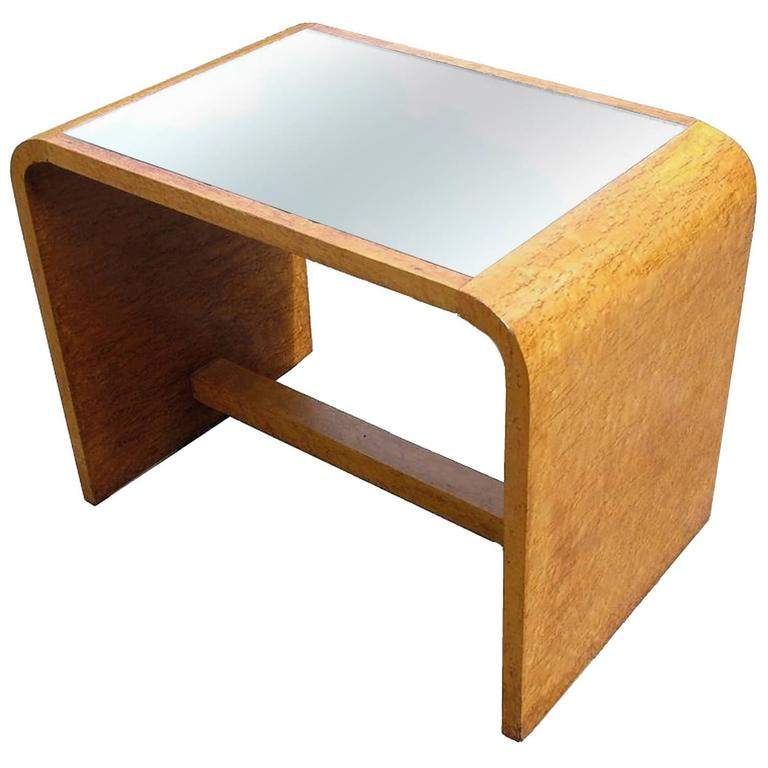 Art Deco Modernist Occasional Table In Birds Eye Maple For Sale At 1stdibs