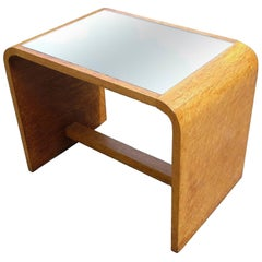 Art Deco Modernist Occasional Table in Birds Eye Maple