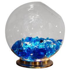 1970s Italian Murano Glass Rock Lamp
