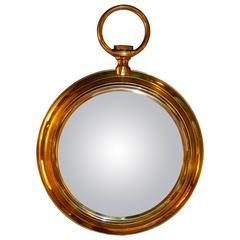 1970s Brass Mirror