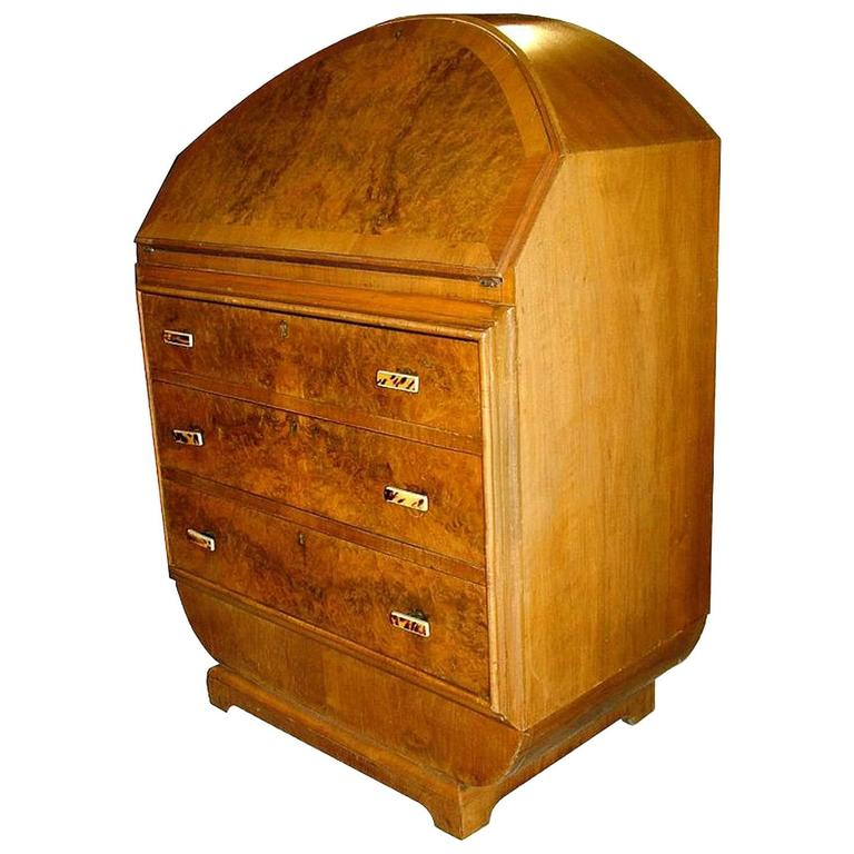 1930s art deco blonde writing bureau for sale at 1stdibs for Deco bureau