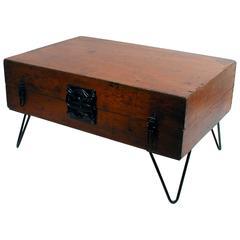 Vintage German Industrial Tool Box Side Table, 1940s