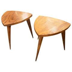 Beautiful Pair of Italian End Tables in Rosewood, circa 1960
