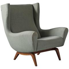 Illum Wikkelsø Wingback Lounge Chair in Teak