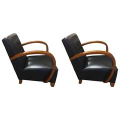 20th Century Art Deco Small Armchairs