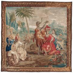 Late 17th Century Flemish Allegorical Tapestry from the Four Continents 'Africa'