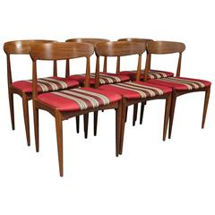 Set of Six Dining Room Chairs by Johannes Andersen and Uldum Furniture, 1960s