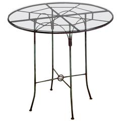 Early 20th Century Wrought Iron Spiders Web Cafe Table