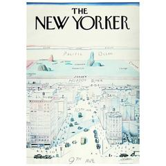 Original 1970s New Yorker Poster by Saul Steinberg
