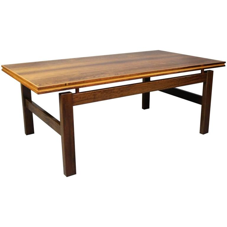 Rosewood Coffee Table of Danish Design from the 1960s
