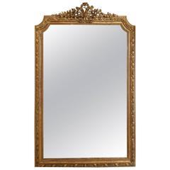 French Antique Mirror Napoleon III Gilded