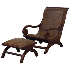 Chair with Foot Stool, 20th Century, Sweden