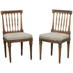 Pair of Side Chairs Gustavian Period Sweden
