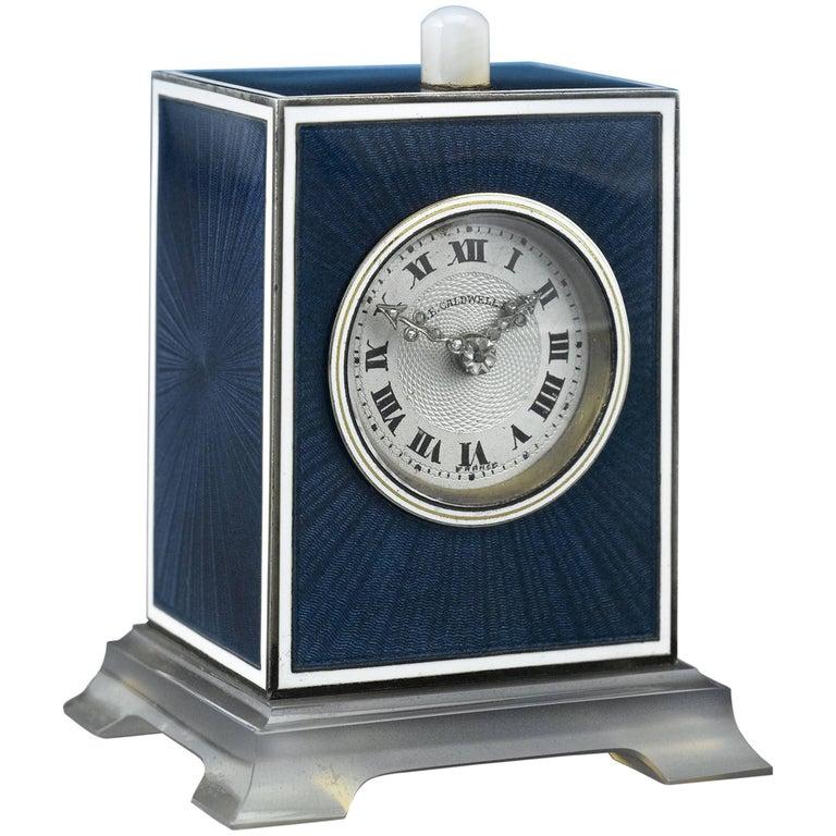 Art Deco J.E. Caldwell Table Clock For Sale