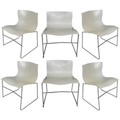 Set of Six Handkerchief Chairs by Massimo Vignelli for Knoll