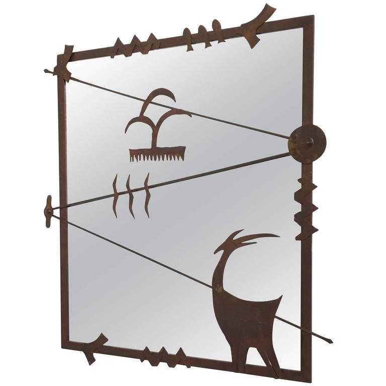 Contemporary Iron Wall Mirror