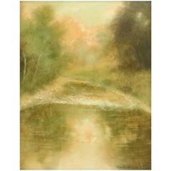 Ben Austrian, Impressionist Landscape, Oil on Board, Signed and Framed