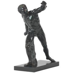 Italian 19th Century Grand Tour Bronze of a Gladiator Cast by Sommer in Napoli