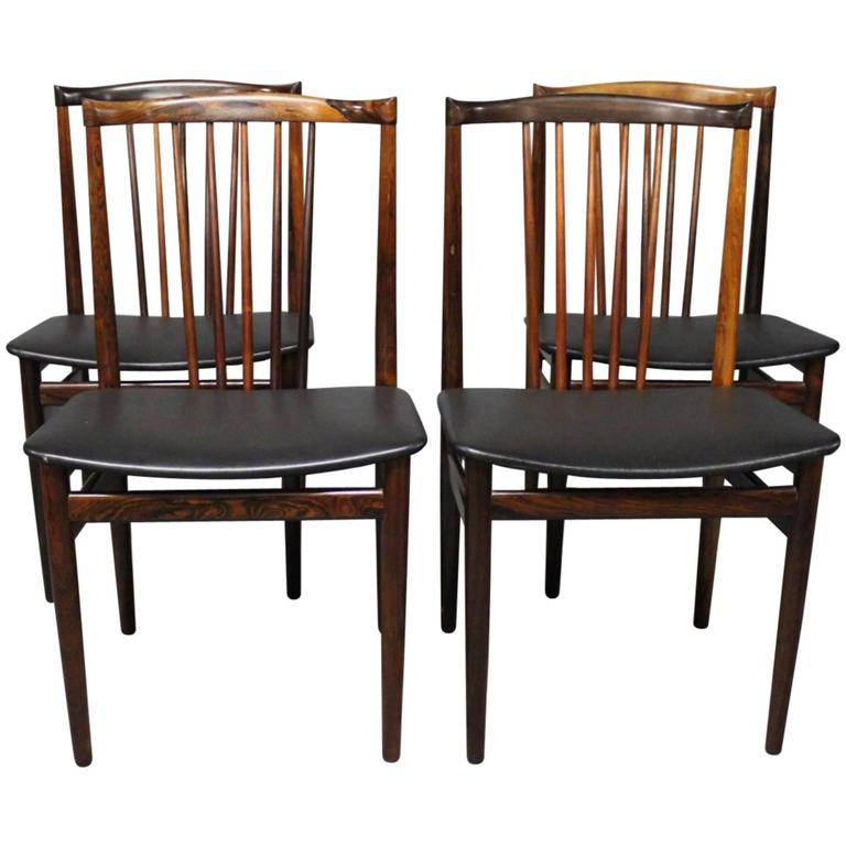set of four dining room chairs by henning s rensen 1968