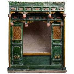 Large Ancient Chinese Ming Dynasty Pottery Shrine, 1500 AD