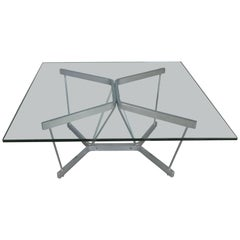 Vintage 1960s Chrome and Glass Catenary Table by George Nelson for Herman Miller