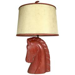 Mid-Century Modern Billy Haines Horse Head Lamp