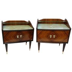 Nightstands in Rosewood by Fratelli Proserpio, 1950s