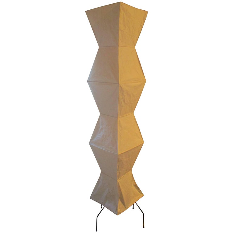 Isamu Noguchi Early Signed Floor Lamp For Sale