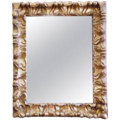 Continental Baroque Carved and Gilt Mirror