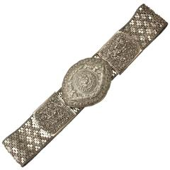 Chinese Straits Silver Belt, Antique, circa 1919