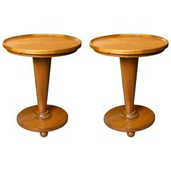 Pair of Art Deco Cherrywood Side Tables