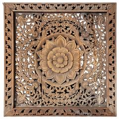 Southeast Asian Openwork Carved Panel