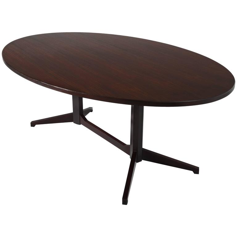 Franco Albini Oval Dining Table in Rosewood