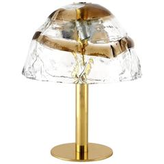 Kalmar Table Lamp, Brass and Murano Glass, 1970