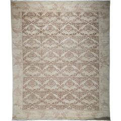 Oushak Hand-Knotted Area Rug