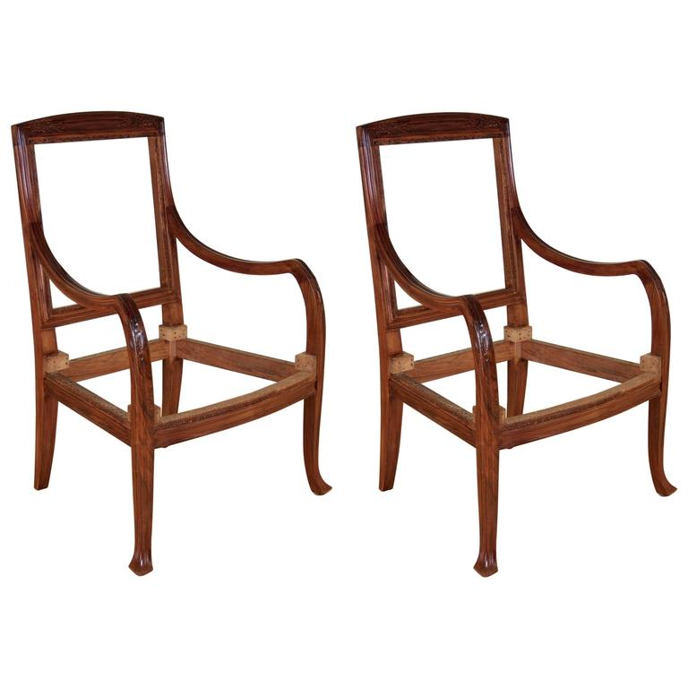 Abel Landry Pair Of Art Nouveau Armchairs