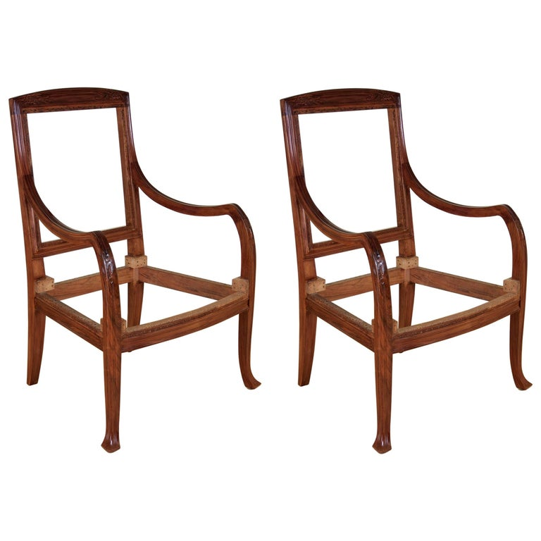 Abel Landry Pair of Art Nouveau Armchairs For Sale
