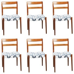 Set of Six Dining Chairs Nils Jonsson for Troeds, Bjärnum